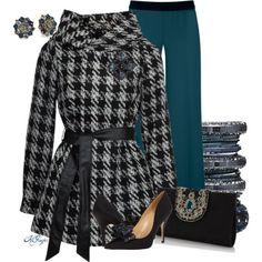 """""""Classy in Houndstooth Contest 2"""" by kginger on Polyvore"""