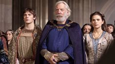 Picture: Sam Claflin, Donald Sutherland and Hayley Atwell in 'The Pillars of the Earth.' Pic is in a photo gallery for 'The Pillars of the Earth' featuring 30 pictures. Uk Tv Shows, Movies And Tv Shows, Game Of Thrones, President Snow, Hunger Games Exhibition, Donald Sutherland, France 3, Hayley Atwell, Female Fighter