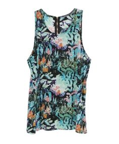Floral Printed Tank With Back Zip