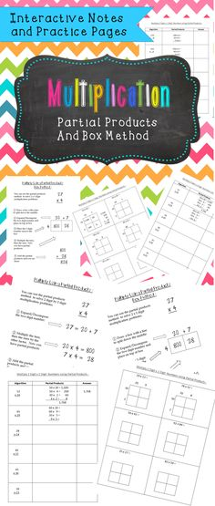 Help build understanding of multiplication using partial products! Partial Product Multiplication, Multi Digit Multiplication, Teaching Tools, Teaching Math, Teaching Division, 5th Grade Math, Numeracy, Elementary Math, 5th Grades