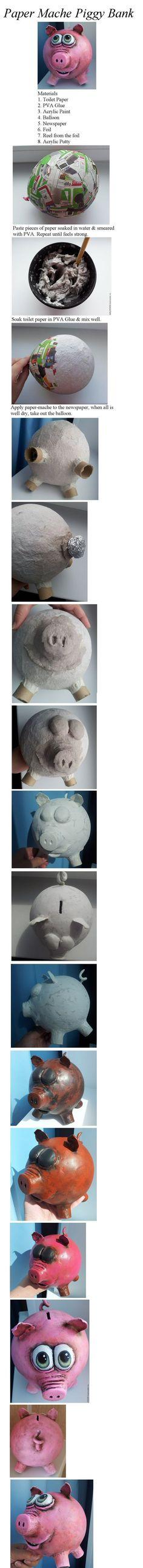 Paper Mache Pig More: