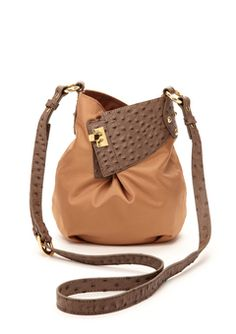 EOLUSDark Brown/Camel Louella Expandable Bucket Crossbody
