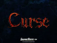 GraphicRiders | Fantasy style – Curse (free photoshop layer style, text effect) #graphicriders #freebies #fantasy