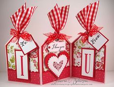 1/12/2012; Sharon Johnson at 'No Time to Stamp?' blog; Valentine accordion card + tutorial; this could be adapted for any occasion