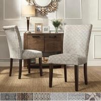Shop Copper Grove Schwalbach Upholstered Parsons Dining Chairs (Set of 2) - On Sale - Overstock - 20461019 - Blue Parsons Dining Chairs, Dining Chair Set, Dining Room Chairs, Side Chairs, Dining Table, Distressed Chair, Chair Types, Elegant Dining, Bar Furniture