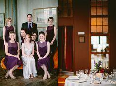 Brooklyn Metropolitan Building wedding, bridesmaids in BHLDN