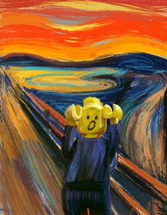Scream Parody, Scream Art, Van Gogh, Art Sub Plans, Le Cri, Cello Music, Expressionist Artists, Kids Class, Famous Art
