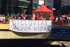 No dia 28 de junho foi inaugurada em São Paulo a ciclovia da Avenida Paulista. E nossos leitores registraram a festa por meio de foto divulgadas em nossas redes sociais. Confira o que rolou por lá.