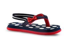 Buy Flip Flops for Girls Baby - Footwear - Pearls Navy and Red-Casual Girls Flip Flop Online India | The Little Shopper
