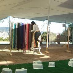 Tot a punt. Les portes s'obriran a les 10:30. Us esperem a la festa @familimiro #espaifil ##jugaresesencial #quefascarlota #trapillo #fil #barcelona #fundaciójoanmiró #kunihimo #tapís #tapiz #tissage #tapestry #festafamilis #festafamilimiro #activitatsenfamilia #enfamília #joanmiró