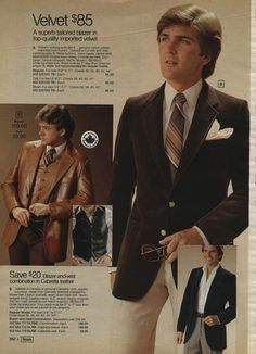 Men's fashion in the changed fashion history. Never before did men have so many choices. Wide flare jeans, platform boots and leisure suits, baby! 1970s Fashion Men, Boy Fashion, Retro Fashion, Vintage Fashion, Mens Fashion, Fashion Trends, Vintage Beauty, Mens Leather Blazer, 70s Mode