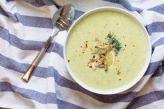Creamy Zucchini Soup Recipe vegan dairy free | Nutrition Stripped