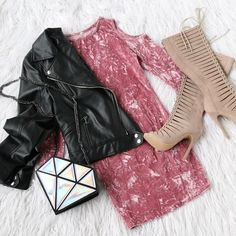 Pink Cold Shoulder Crushed Velvet Bodycon Dress