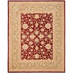 Anatolia Red/Moss (Red/Green) 9 ft. 6 in. x 13 ft. 6 in. Area Rug