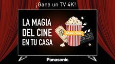 Gana un TV Panasonic 4K y disfruta de la magia del cine en tu casa