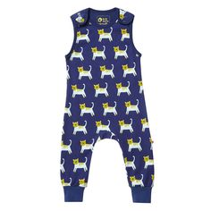 Little Green Radicals Under The Sea Dungarees 0 3 6 9 12  LGR Organic