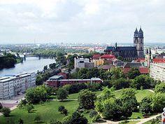#Magdeburg aus der Luft betrachtet