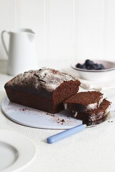 Chocolate, Courgette & Spelt Cake      A great choice for people who don't like their cakes too sweet as it has savory tones. This cake is better after being kept a couple of days wrapped in a tin as the flavours develop.