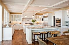 To improve the interior of your home, you may want to consider doing a kitchen remodeling project. This is the room in your home where the family tends to spend the most time together. If you have not upgraded your kitchen since you purchased the home,. White Kitchen, Dream Kitchen, Home, Kitchen Remodel, New Kitchen, Home Kitchens, Kitchen Layout, Kitchen Renovation, Kitchen Design