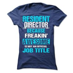 RESIDENT DIRECTOR T Shirts, Hoodies Sweatshirts. Check price ==► http://store.customtshirts.xyz/go.php?u=https://www.sunfrog.com/Names/RESIDENT-DIRECTOR-62943205-Ladies.html?41382