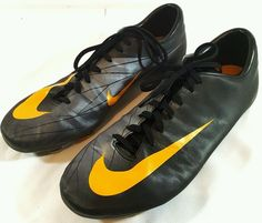 NIKE MERCURIAL SUPERFLY IV FG SOCCER CLEATS - Size 11 Yellow/Black/Grey/Volt #Nike