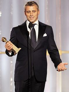 Congrats on your Golden Globe Matt LeBlanc! I personally love the salt & pepper hair look and his acceptance speech was so sweet :) #teamJoey!