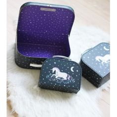 Set de 3 bagages licorne