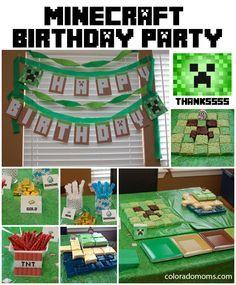 easy minecraft cake ideas | Minecraft Birthday Party | ColoradoMoms.com