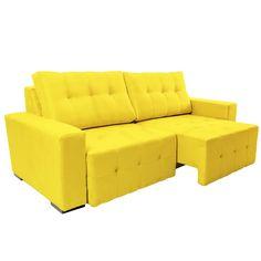 Sofá Retrátil 3 lugares, Amarelo Fusion
