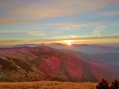 Sunrise in Krkonoše mountains (East Bohemia), Czechia