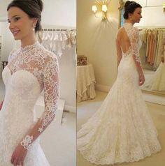 vestidos de novia de encaje con manga - Buscar con Google