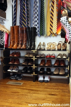 Great organization ideas for a small closet