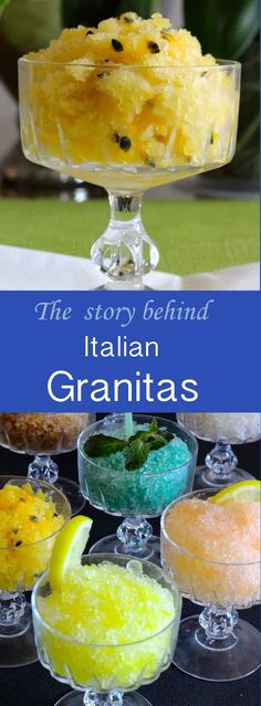 Granita is a typical Sicilian dessert consisting of a semi-frozen liquid based on water, sugar and fruit or fruit juice