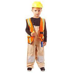 """Déguisement """"ouvrier du bâtiment"""" enfant, en polyester, pour transformer les petits engrands ouvriers !Le déguisement comprend les éléments suivants :- salopette- veste à fermeture scratch et avec des réflecteurs- casque- tournevis, marteau et pince en plastiqueComposition : 100 % polyester"""