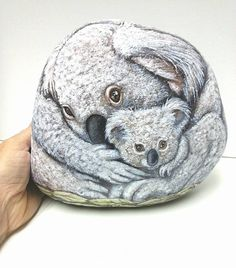 Mothers Day - Koala Art- Original Hand Painted Large Stones-  Rock Art- by Shelli Bowler -Free shipping in U.S. on this item