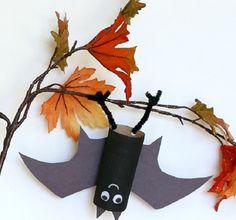 Летучая мышь из бумаги - Поделки с детьми | Деткиподелки