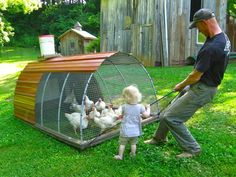 June, helps with chores like pulling a chicken tractor Backyard Chicken Coop Plans, Chickens Backyard, Raising Meat Chickens, Running Plan, Chicken Tractors, Hobby Farms, Farm Yard, Spring Garden, Toddler Activities