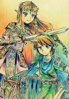Hyrule Warriors | Link and Zelda