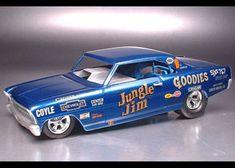 Revell Model Cars, Diecast Models, Funny Car Drag Racing, Funny Cars, 67 Nova, Chevy, Chevrolet, Model Cars Building, Jungle Jim's
