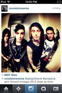Ronnie Radke - Jacky Vincent - Andy Biersack - Jake Pitts