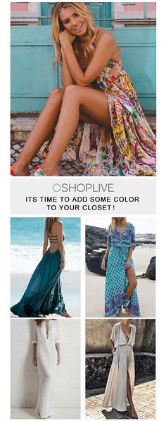Find a better dress for this spring! Daily update for the most in styles. You will love Oshoplive so much. Summer City Fashion, Boho Fashion, Fashion Outfits, Summer Dress Outfits, Cool Outfits, Pretty Dresses, Sexy Dresses, Femmes Les Plus Sexy, Popular Dresses