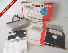Vintage 1985 Pre INTERNET Atari XM 301 Modem NOS by VintageSistersx2 on Etsy