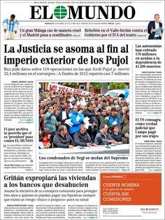 Los Titulares y Portadas de Noticias Destacadas Españolas del 10 de Abril de 2013 del Diario El Mundo ¿Que le parecio esta Portada de este Diario Español?