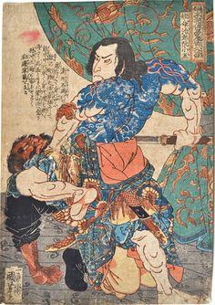 Kuniyoshi, The 108 Heroes of the Popular Suikoden - Tammeijiro