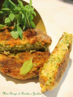 Cuor di Ciambella: Mini Burger di Ricotta e Zucchini