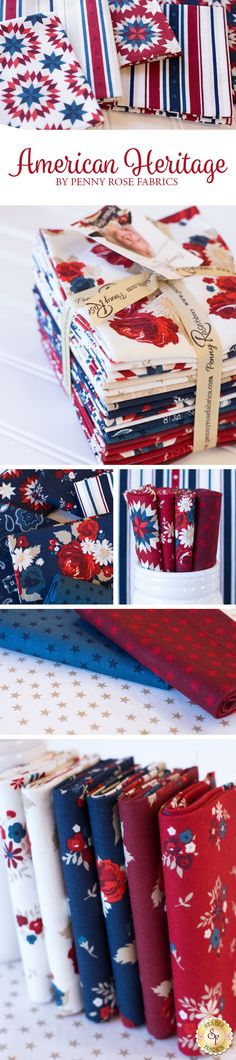 American Heritage by Dani Mogstad for Penny Rose Fabrics is a beautiful collection available at Shabby Fabrics