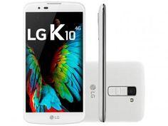 "Smartphone LG K10 TV 16GB Branco Dual Chip 4G - Câm 13MP + Selfie 8MP Flash Tela 5.3"" HD Octa Core"