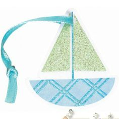 Baby Shower Blue and Green Sailboat Favor Tags (12ct)    Hard To Find Party Supplies