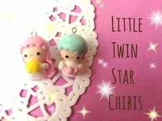 Little Twin Star Chibis polymer clay tutorial