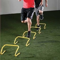 SKLZ Speed Hurdles - Great tool for MANY reasons, you can use them to work on footwork, speed, explosiveness, ball handling. I love these as they provide you with so many ways to challenge yourself as a tennis player! Basketball Video Games, Basketball Tricks, Basketball Plays, Basketball Skills, Basketball Pictures, Basketball Training Equipment, No Equipment Workout, Music Competition, Hurdles